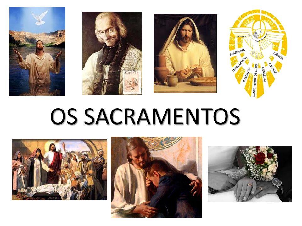 OS EFEITOS DA GRAÇA SANTIFICANTE EM NÓS DE CADA SACRAMENTO BATISMO: BATISMO: Nos torna filhos de Deus, membros da Igreja e herdeiros do céu.