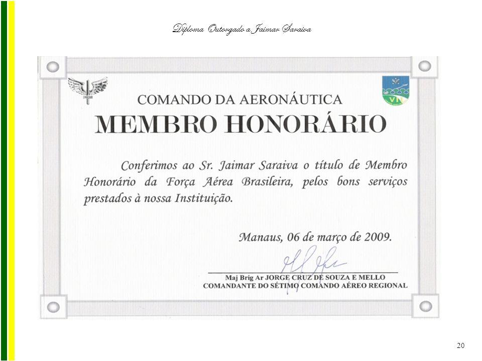 Diploma Outorgado a Jaimar Saraiva 20
