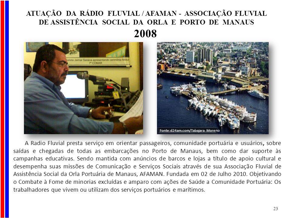 A Radio Fluvial presta serviço em orientar passageiros, comunidade portuária e usuários, sobre saídas e chegadas de todas as embarcações no Porto de M