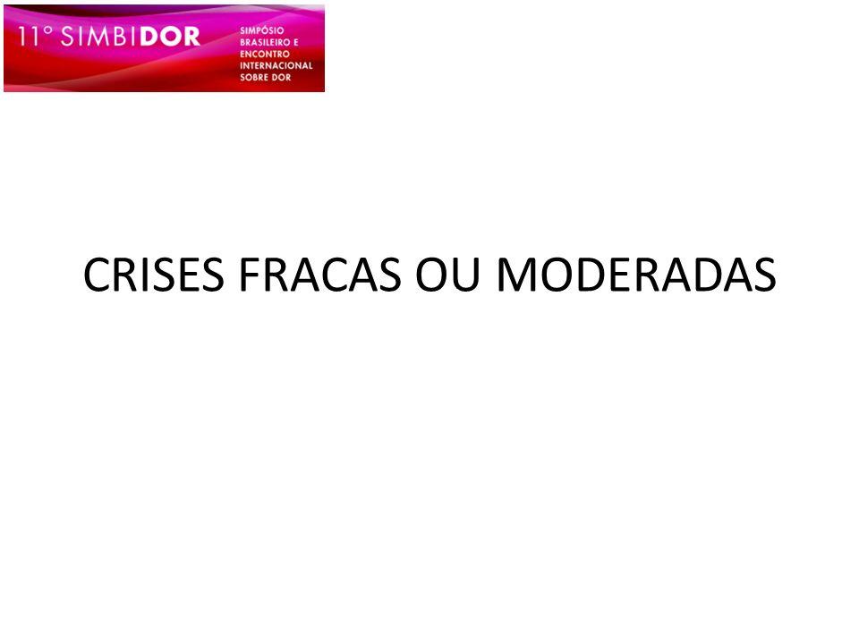 CRISES FRACAS OU MODERADAS