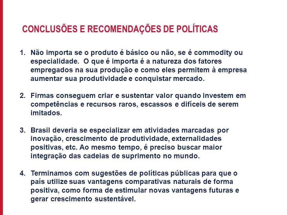 Para incluir informações no rodapé do slide, acesse: EXIBIR->MESTRE->SLIDE MESTRE CONCLUSÕES E RECOMENDAÇÕES DE POLÍTICAS 1.Não importa se o produto é