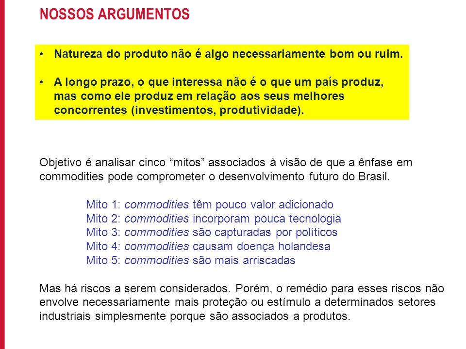 Para incluir informações no rodapé do slide, acesse: EXIBIR->MESTRE->SLIDE MESTRE NOSSOS ARGUMENTOS Natureza do produto não é algo necessariamente bom