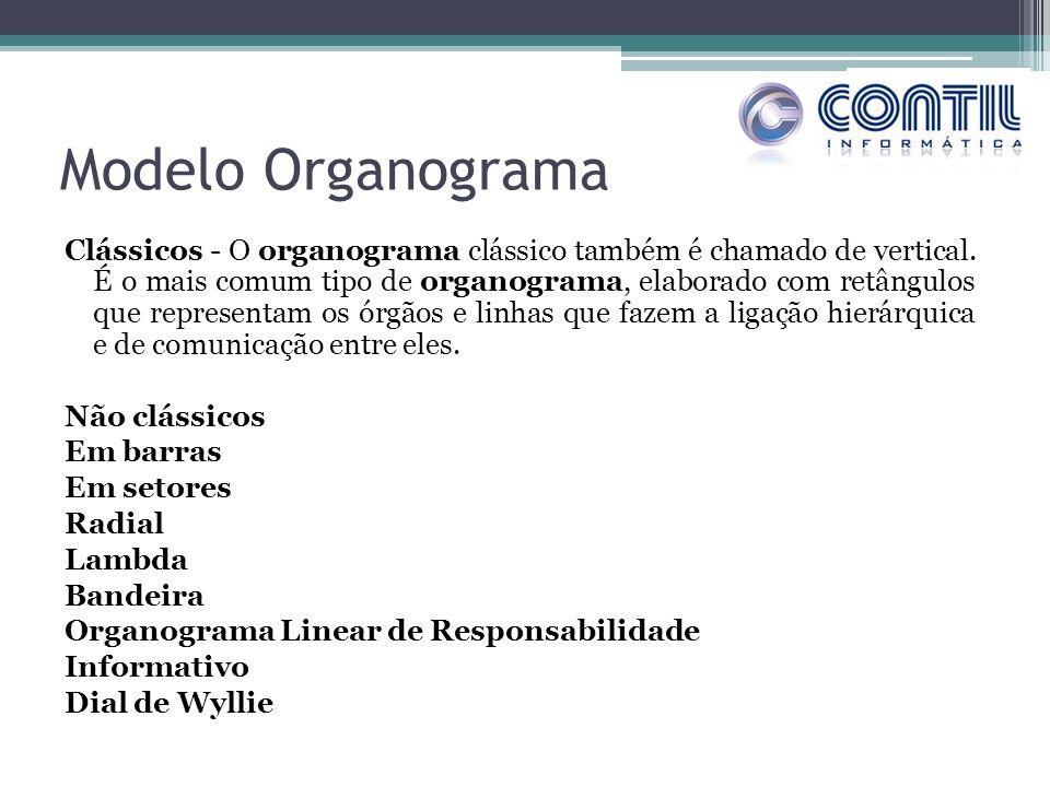 Modelo Organograma Clássicos - O organograma clássico também é chamado de vertical.