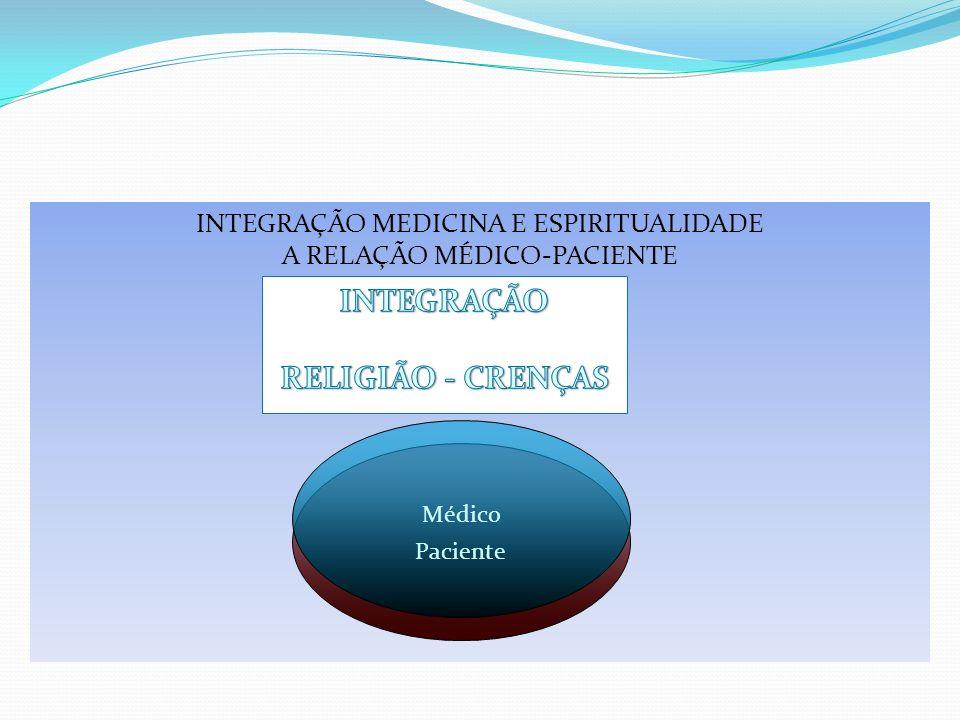 INTEGRAÇÃO MEDICINA E ESPIRITUALIDADE A RELAÇÃO MÉDICO-PACIENTE Paciente Médico