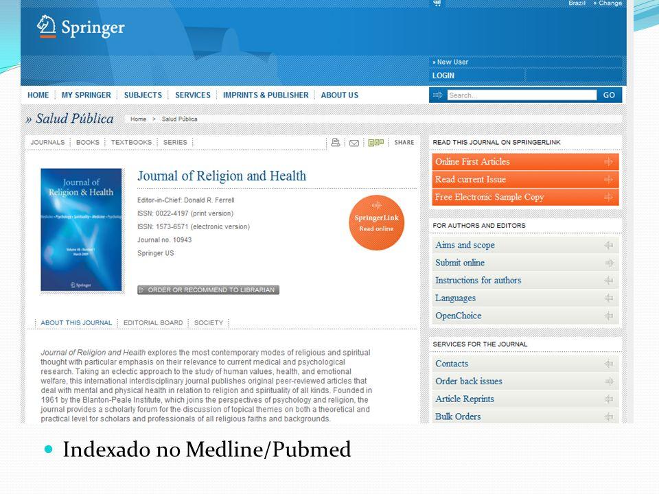 Indexado no Medline/Pubmed