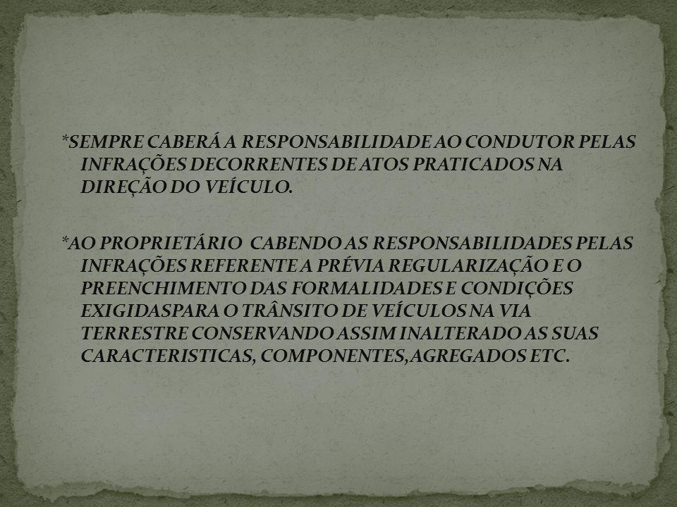 Lembrando então que as disposições do Código de Trânsito Brasileiro são aplicáveis a: *VEÍCULOS *PROPRIETARIOS *CONDUTORES