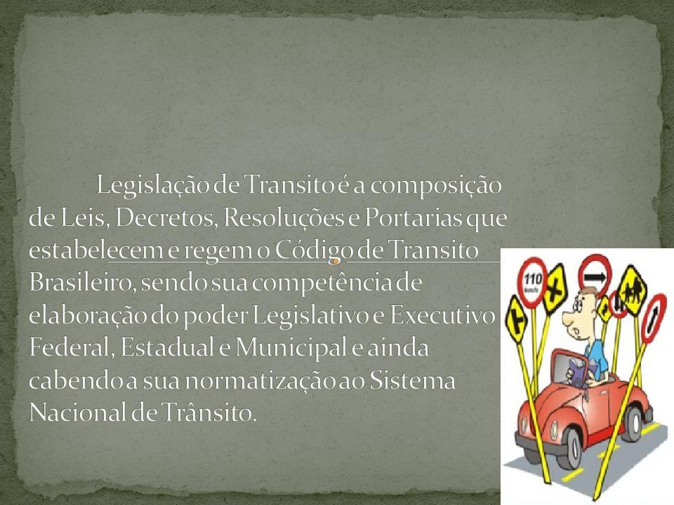 IMPLANTADO EM 1997 ENTROU EM VIGOR EM 23/01/98 C.T – CODIGO DE TRANSITO 1941 C.N.T- CODIGO NACIONAL DE TRANSITO 1966 R.C.T – REGULAMENTO DO CODIGO DE