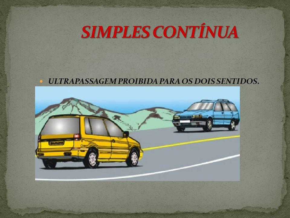 A ultrapassagem deverá ser feita respeitadas as demais normas de circulação, e regularmente conforme a LINHA DE DIVISÃO DE FLUXOS OPOSTOS. A ultrapass