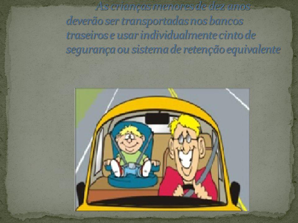 Art. 167 CTB – Deixar o condutor ou passageiro de usar cinto de segurança, conforme previsto no art. 65: *INFRAÇÃO – grave; *PENALIDADE – multa de R$