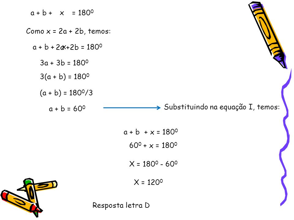 65) Na figura abaixo temos um losango, um paralelogramo, um triângulo isósceles e um triângulo retângulo.