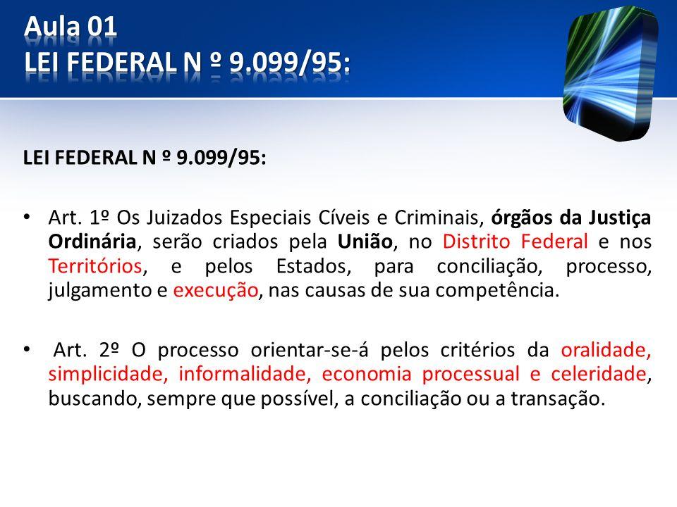 LEI FEDERAL N º 9.099/95: Art.