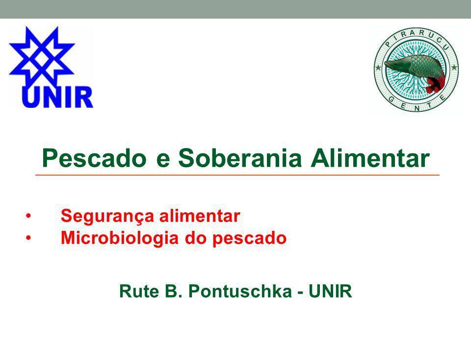 Pescado e Soberania Alimentar Segurança alimentar Microbiologia do pescado Rute B. Pontuschka - UNIR