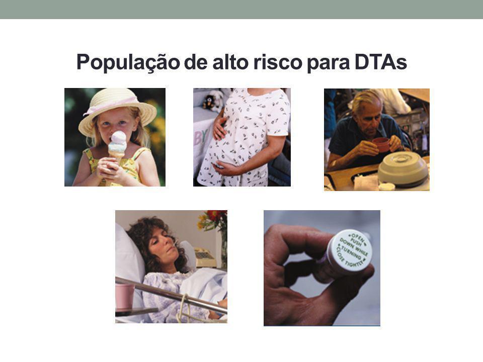 População de alto risco para DTAs
