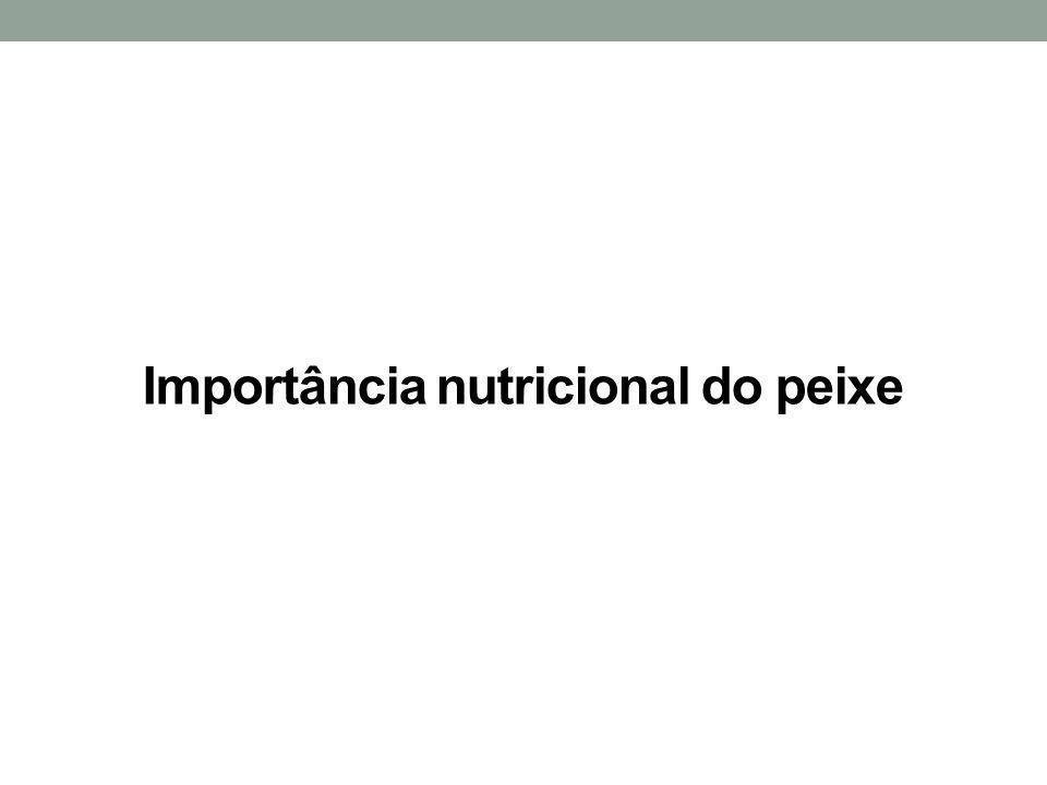 Importância nutricional do peixe