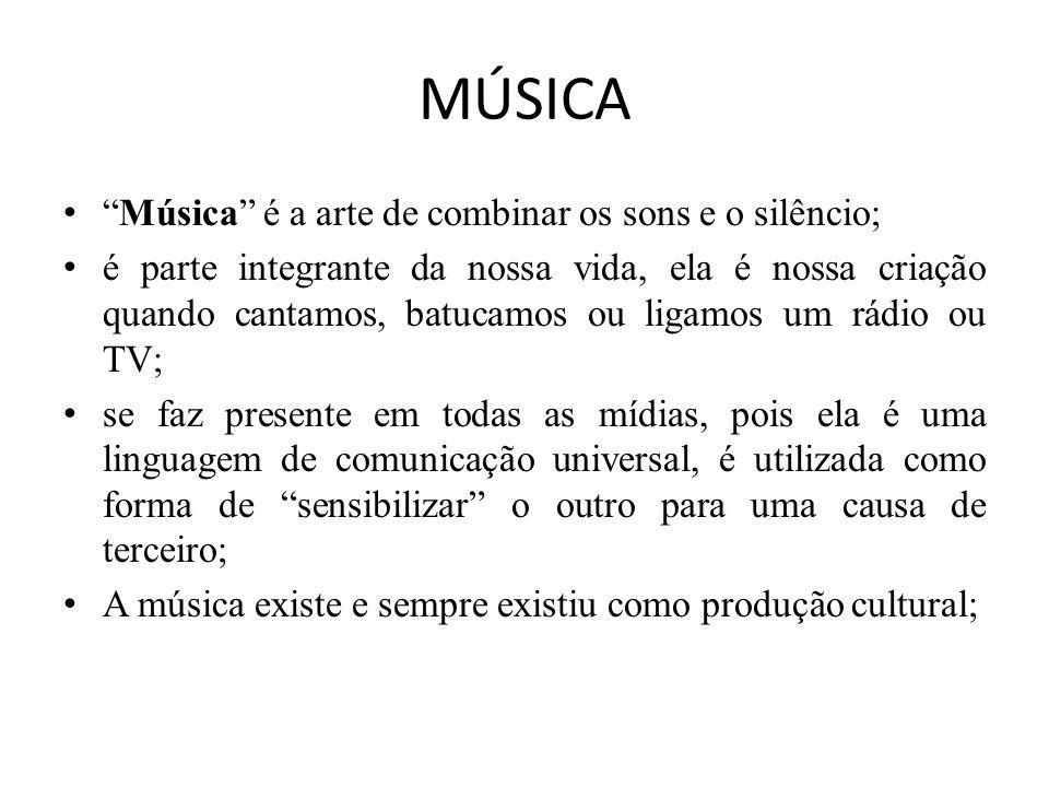 MÚSICA ERUDITA Existem três definições para a música erudita, ou música clássica: - A primeira, utilizada por muitos dicionários de música, define a música erudita como sendo música séria em oposição à música popular, música folclórica, música ligeira ou de jazz.