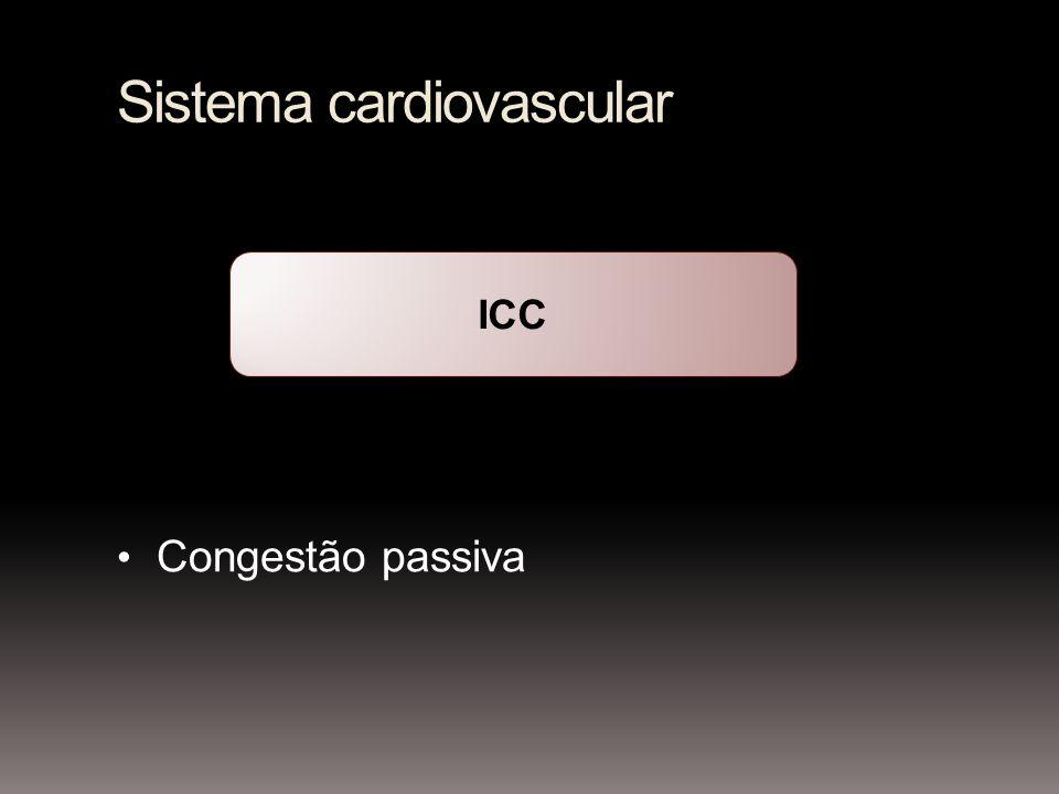 Sistema cardiovascular Congestão passiva ICC