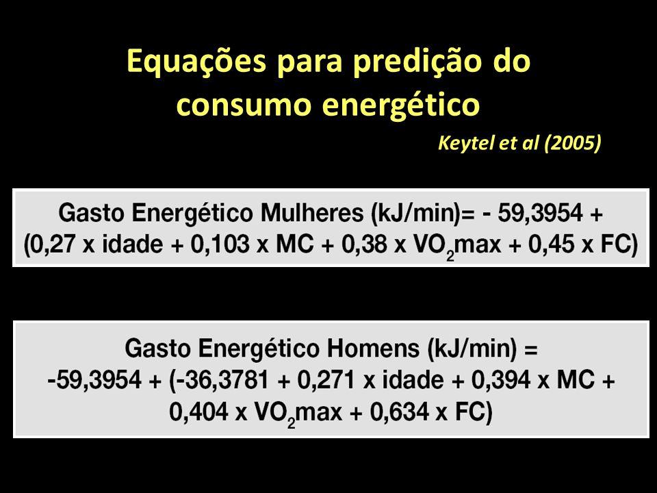 Equações para predição do consumo energético Keytel et al (2005)
