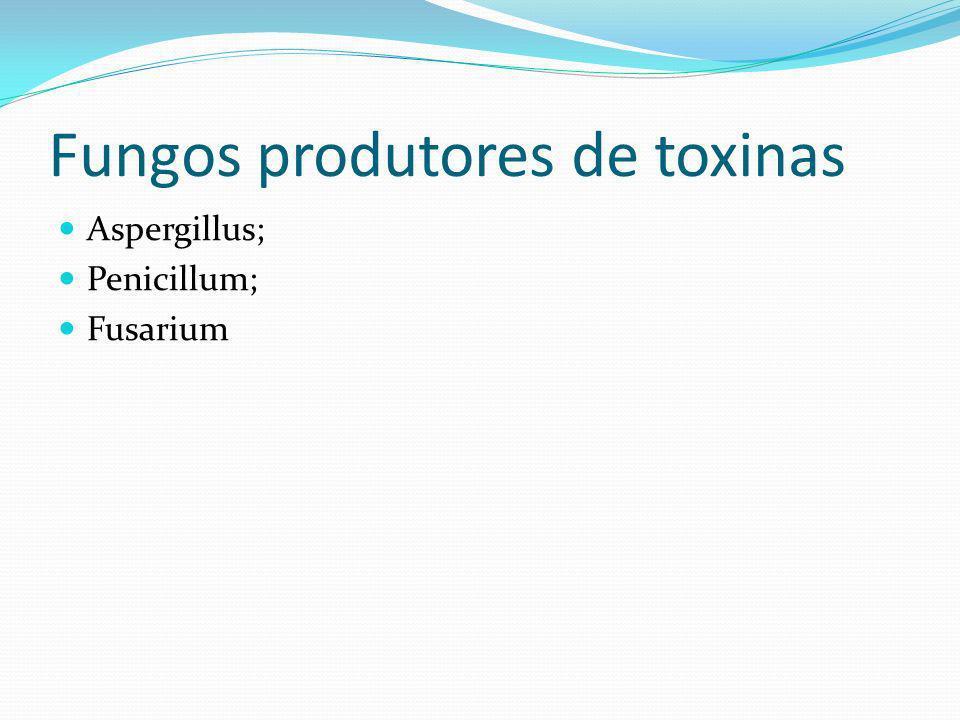 Fungos produtores de toxinas Aspergillus; Penicillum; Fusarium