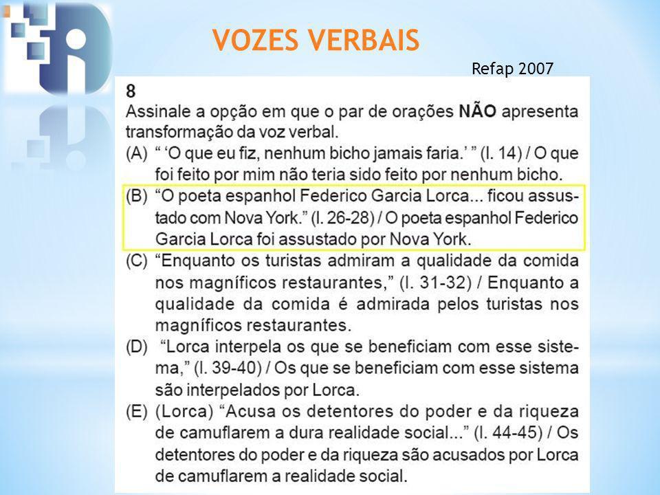 VOZES VERBAIS Refap 2007