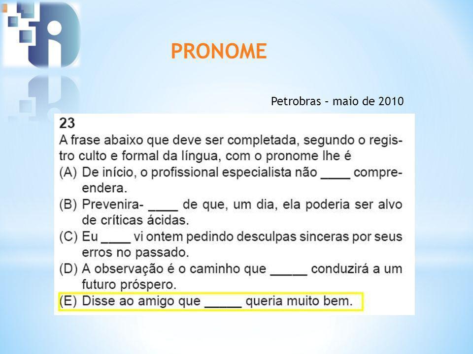 PRONOME Petrobras – maio de 2010