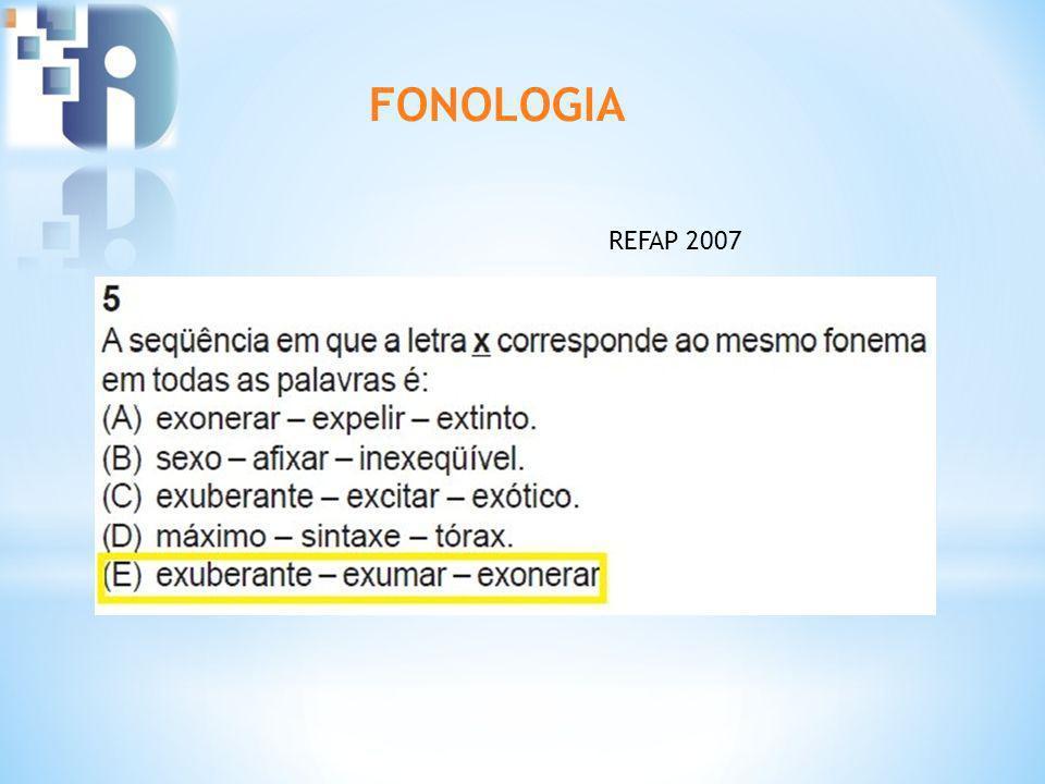 FONOLOGIA REFAP 2007