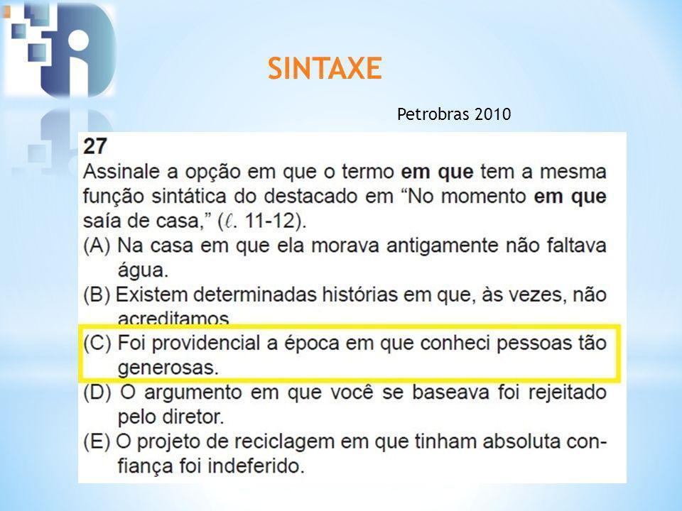SINTAXE Petrobras 2010
