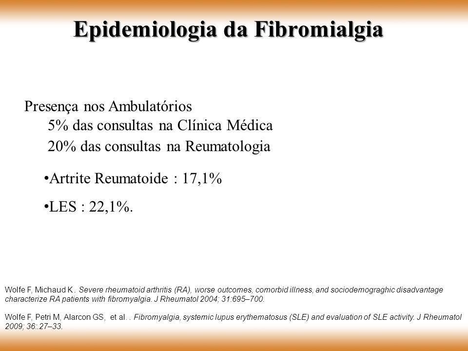 Artrite Reumatoide : 17,1% LES : 22,1%. Wolfe F, Michaud K. Severe rheumatoid arthritis (RA), worse outcomes, comorbid illness, and sociodemograghic d