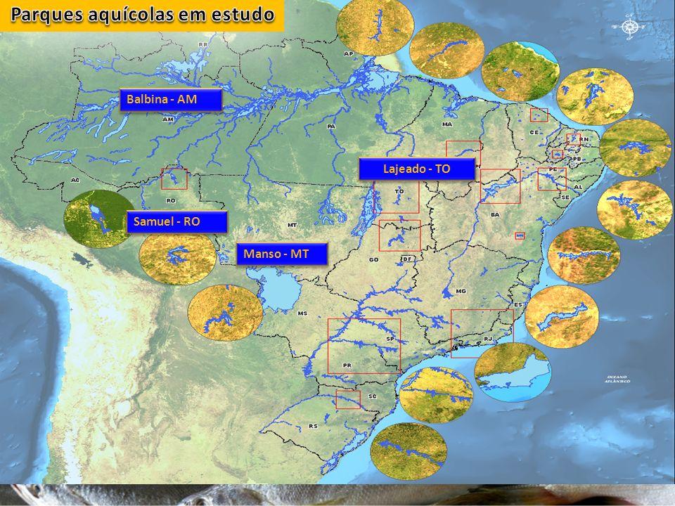 Lajeado - TO Samuel - RO Manso - MT Balbina - AM