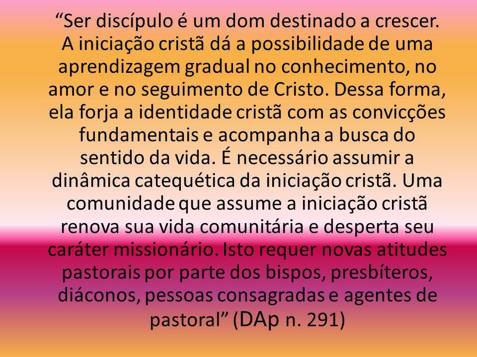 Sentimos a urgência de desenvolver em nossas comunidades um processo de iniciação cristã que comece pelo querigma e que, guiado pela Palavra de Deus,