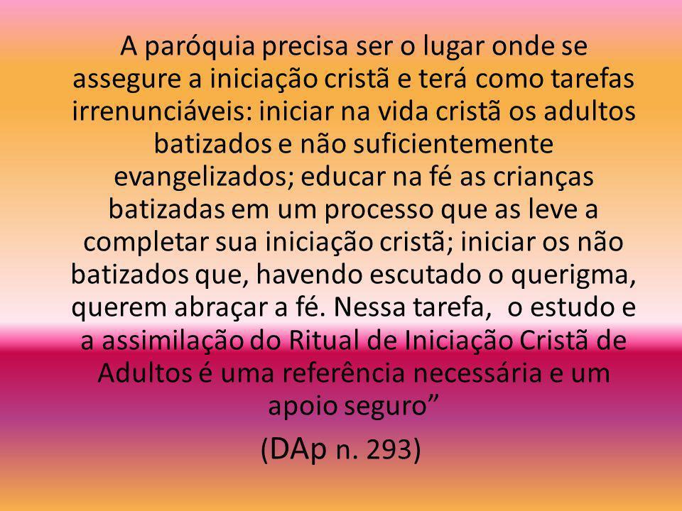 Como características do discípulo, indicadas pela iniciação cristã, destacamos: que ele tenha como centro a pessoa de Jesus Cristo, nosso Salvador e p