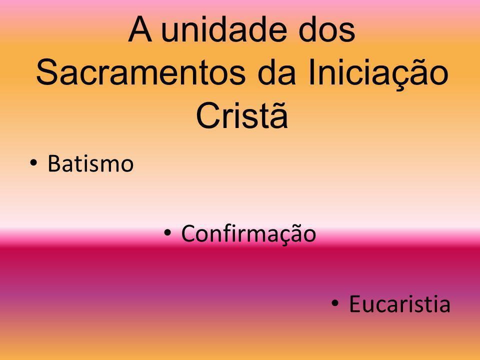 O vocabulário da Iniciação Cristã foi cunhado pelos Padres da Igreja e recuperado pelo Concílio Vaticano II