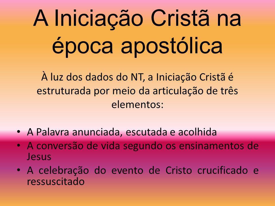 A unidade dos Sacramentos da Iniciação Cristã Batismo Confirmação Eucaristia