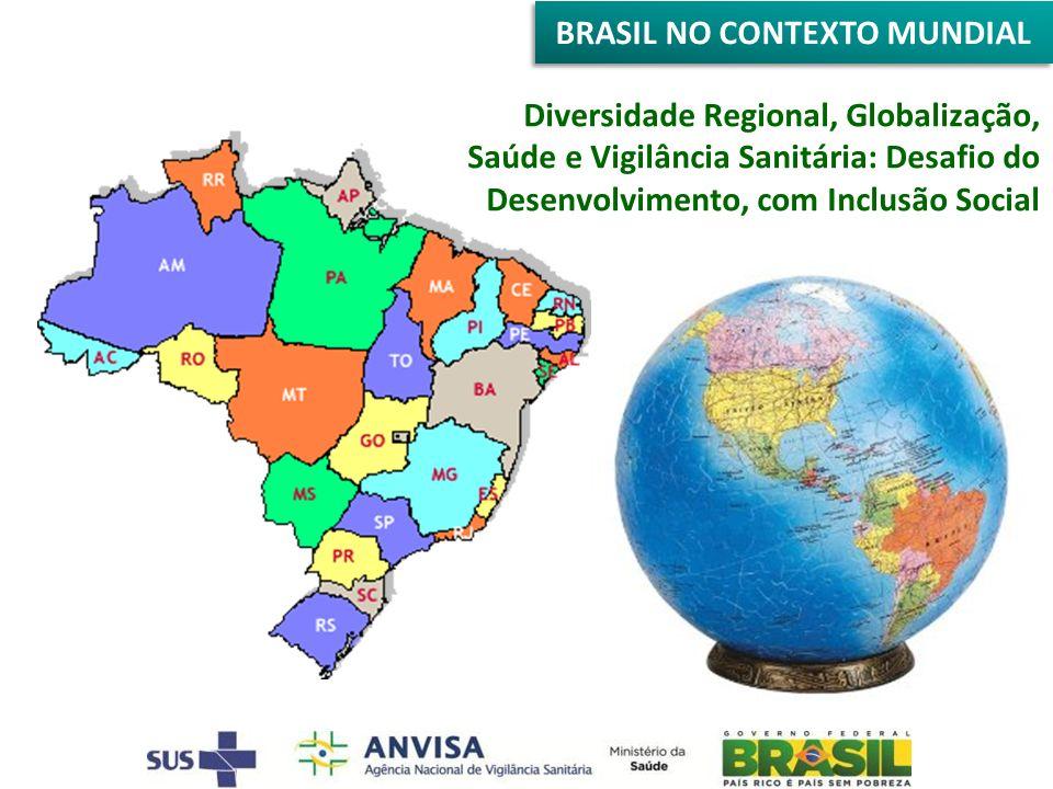 BRASIL NO CONTEXTO MUNDIAL Diversidade Regional, Globalização, Saúde e Vigilância Sanitária: Desafio do Desenvolvimento, com Inclusão Social