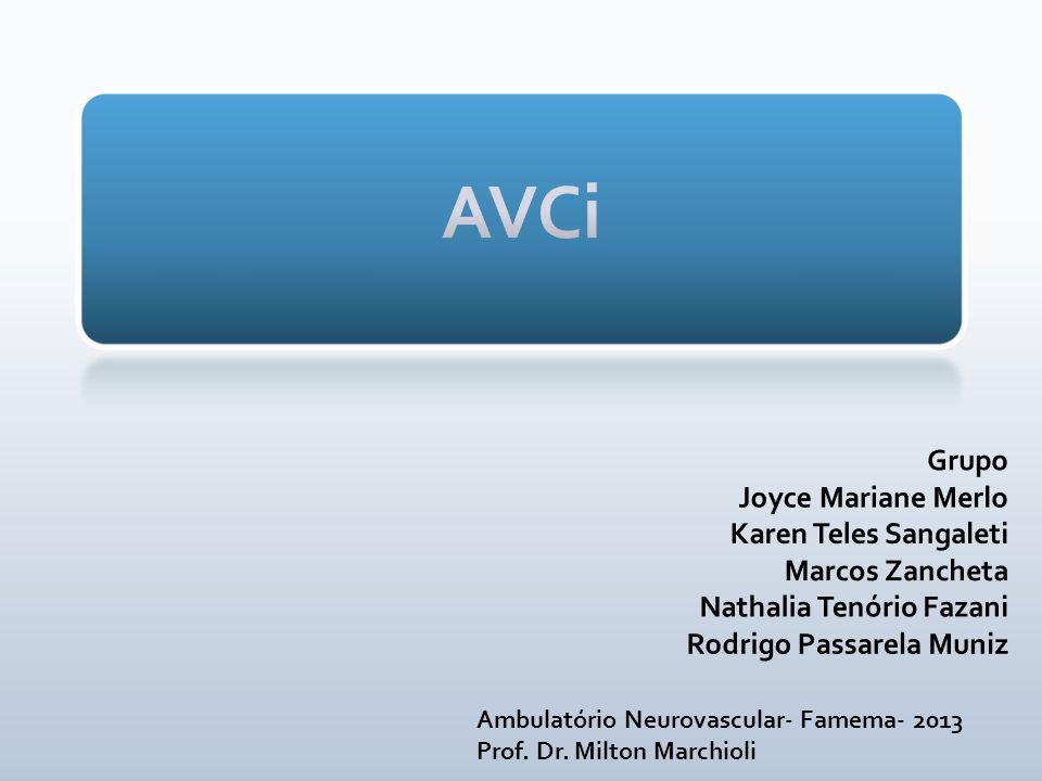 Ambulatório Neurovascular- Famema- 2013 Prof. Dr. Milton Marchioli