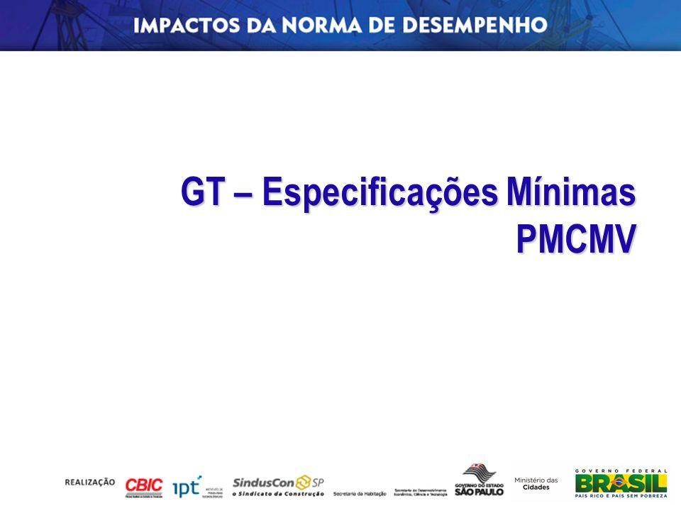 GT – Especificações Mínimas PMCMV