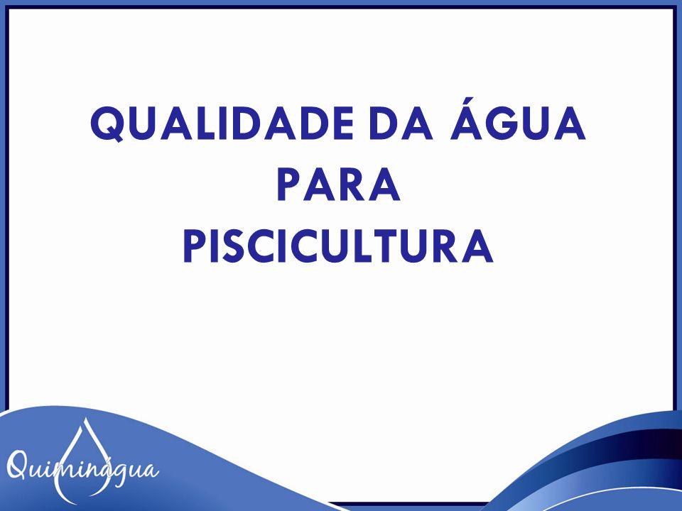 OXIGÊNIO DISSOLVIDO – A concentração de oxigênio dissolvido é fundamental para assegurar o adequado desenvolvimento e a sobrevivência de peixes.