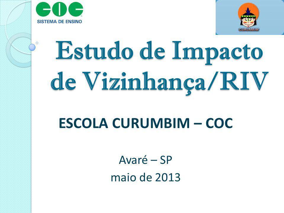 Estudo de Impacto de Vizinhança/RIV ESCOLA CURUMBIM – COC Avaré – SP maio de 2013