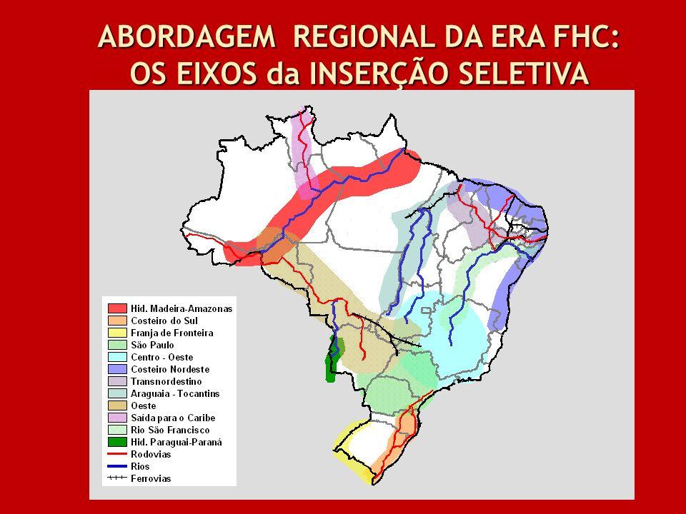 ABORDAGEM REGIONAL DA ERA FHC: OS EIXOS da INSERÇÃO SELETIVA