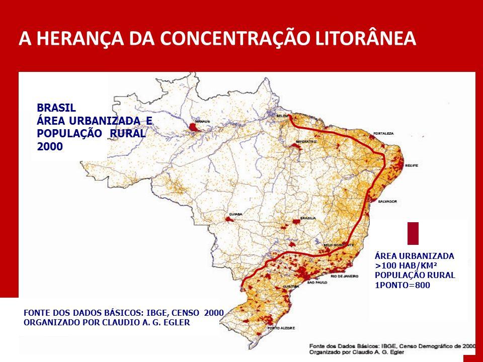 Desafio: assumir nova LEITURA REGIONAL NA ESCALA MACRO e definir novas formas de atuação FONTE: ESTUDO DO CGEE para o MPOG ( Módulo 2)