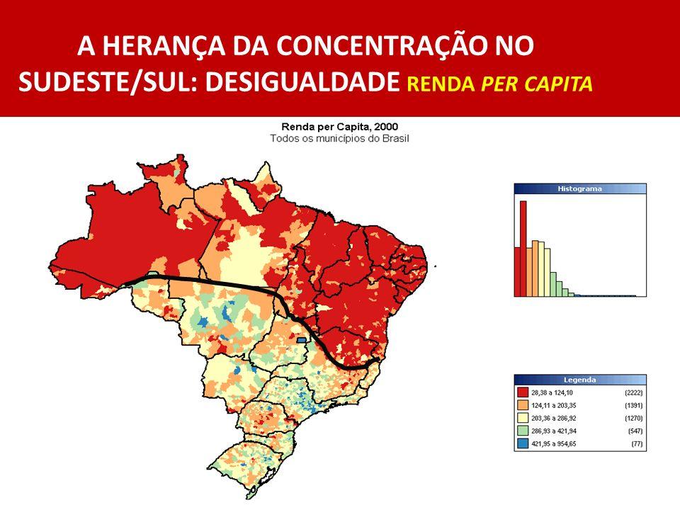 POLÍTICAS REGIONAIS EXPLICITAS Federais ( ESCALA SUB NACIONAL): A proposta da PNDR e o foco nas MESORREGIÕES Exemplo - a FRONTEIRA SUL do RS (enfrentando crise estrutural prolongada) Avanço : mapa do Brasil ( VER) Problemas : s/FNDR e Obras Hídricas como prioridade do MIN Os FUNDOS CONSTITUCIONAIS ampliam aplicações ( ESCALA MACRO-REGIONAL): peso do credito Tipo 2