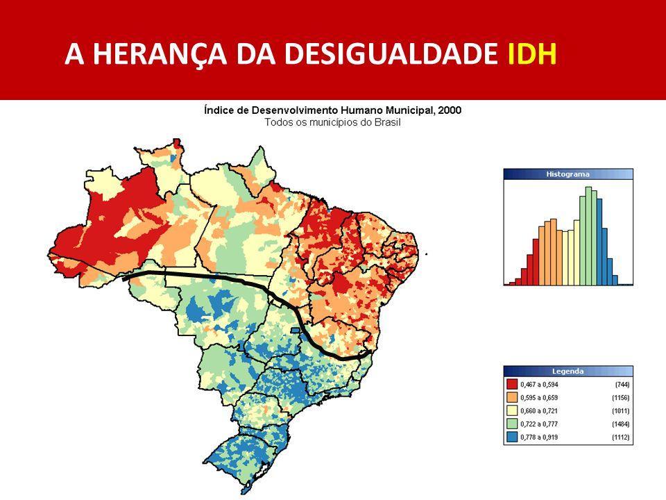A HERANÇA DA DESIGUALDADE IDH