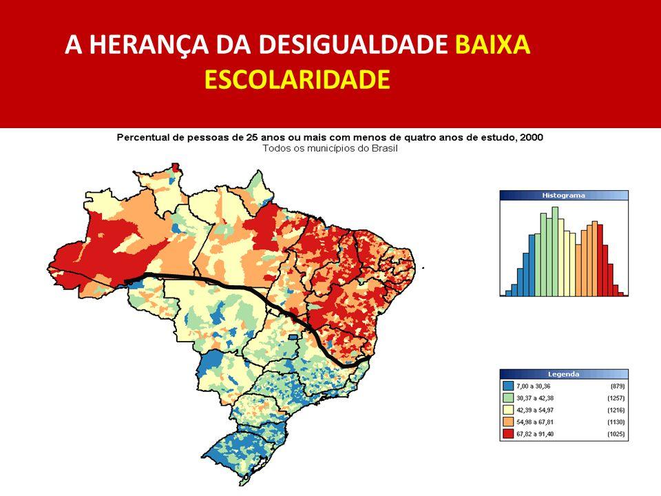 A HERANÇA DA DESIGUALDADE BAIXA ESCOLARIDADE
