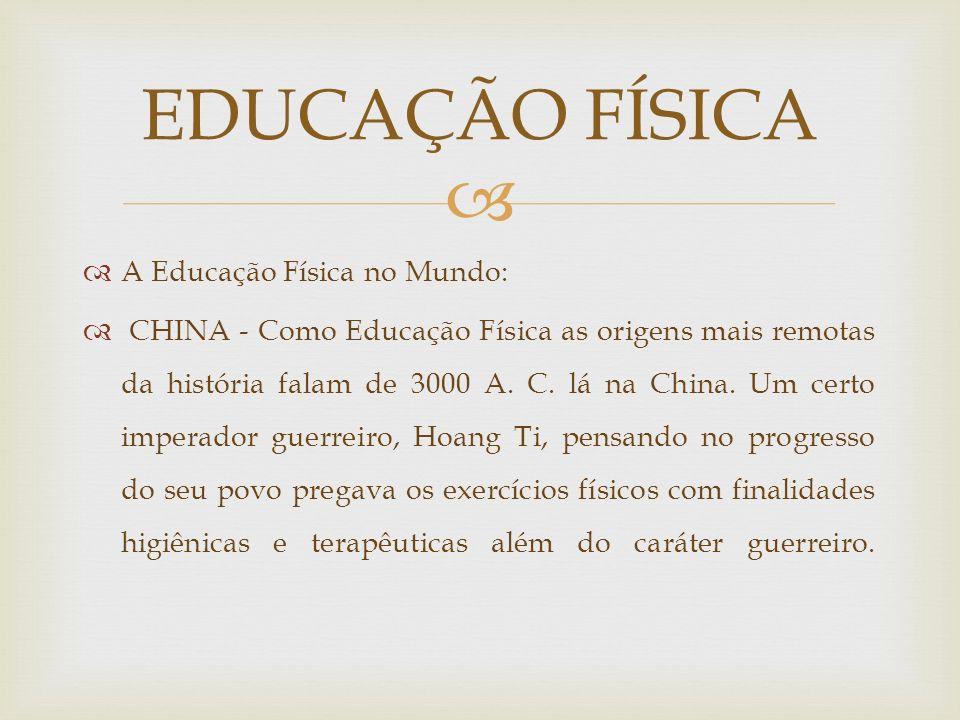 Brasil Império - Em 1851 a lei de n.º 630 inclui a ginástica nos currículos escolares.