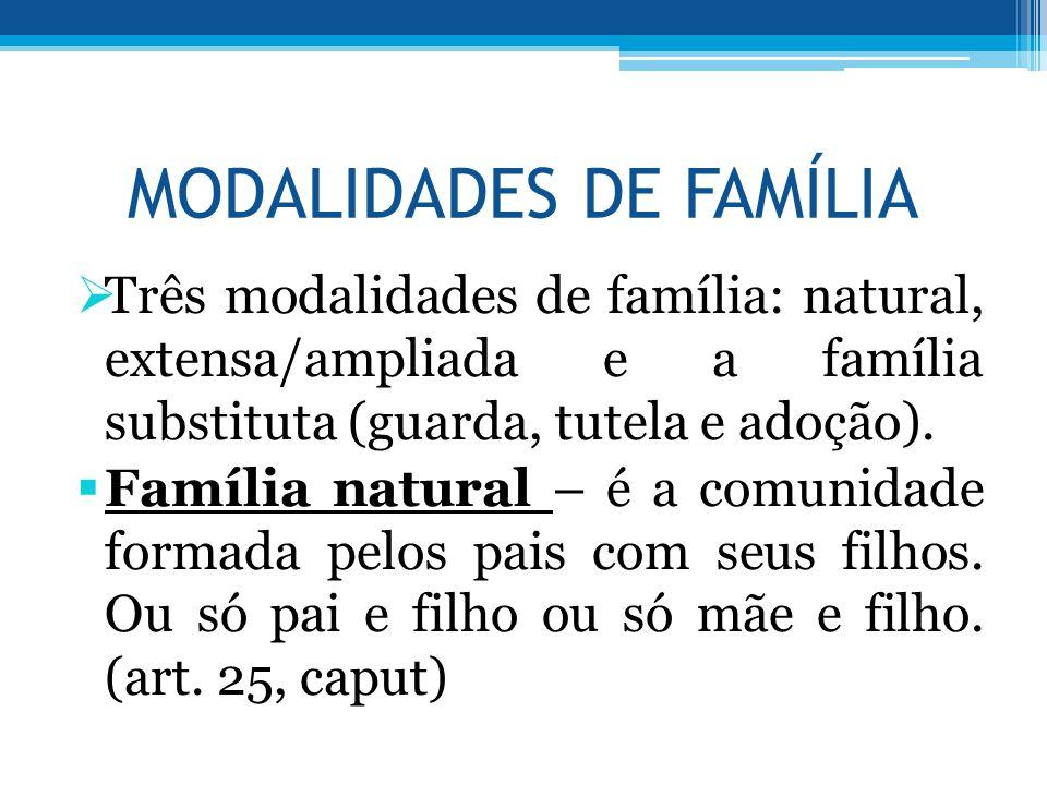 Familia Natural e Extensa Família Natural – é a