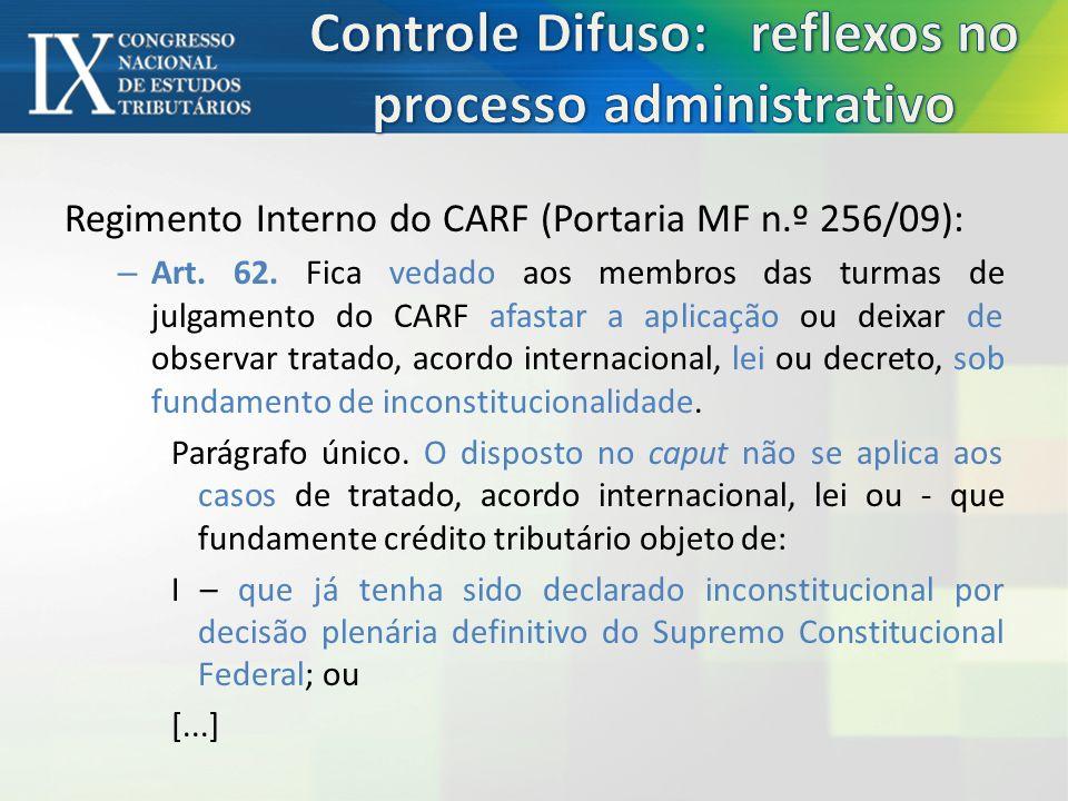 Súmula CARF n.º 2: O CARF não é competente para se pronunciar sobre a Inconstitucionalidade de lei tributária.