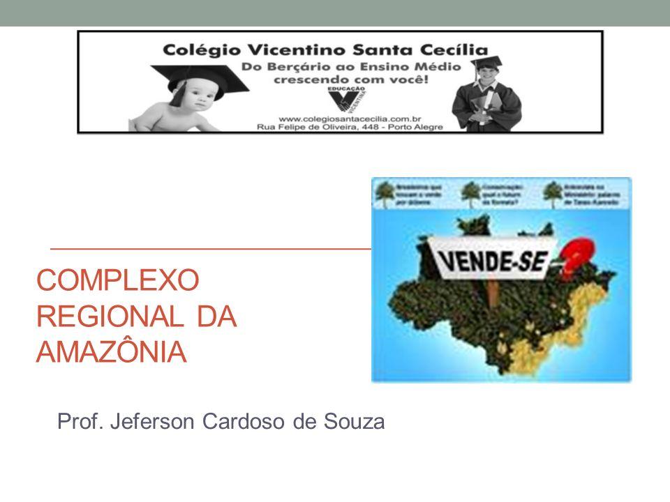 COMPLEXO REGIONAL DA AMAZÔNIA Prof. Jeferson Cardoso de Souza