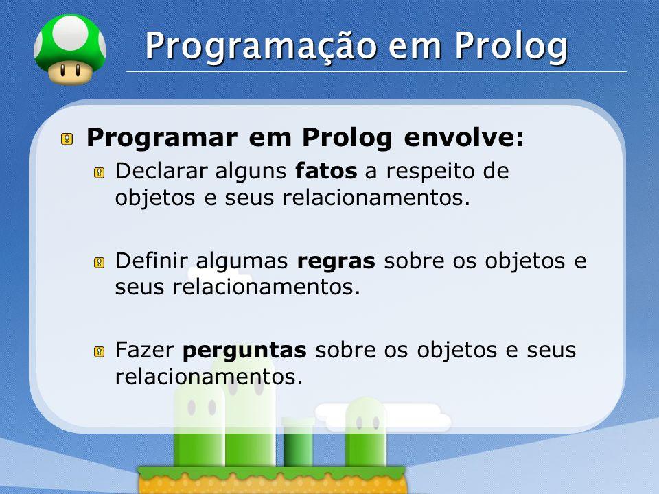 LOGO SWI-Prolog Open source.Multiplataforma. Possui interface com as linguagens C e C++.