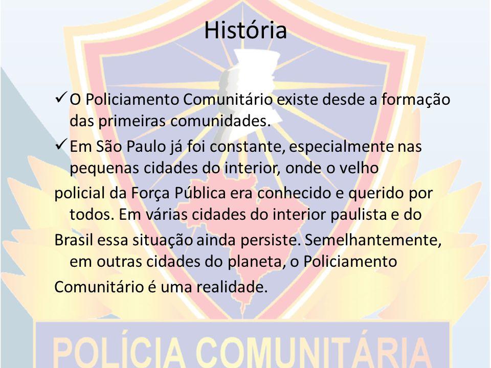 Diferenças do policiamento tradicional para o policiamento comunitário O policial é o do serviço; Emprego da força como técnica de resolução de problemas; Presta contas somente ao seu superior; As patrulhas são distribuídas conforme o pico de ocorrências.
