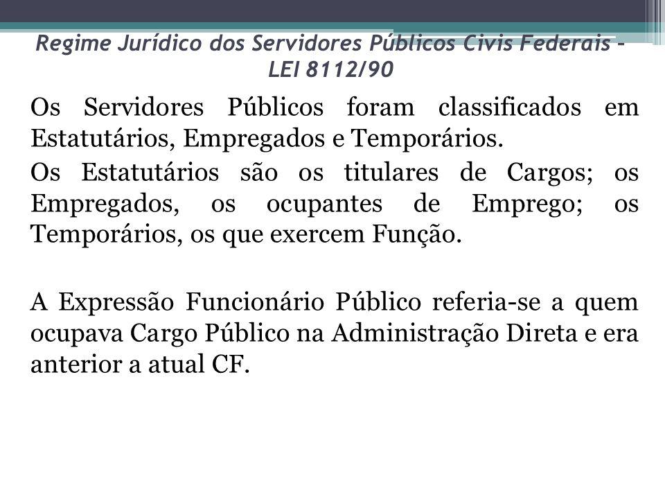 Regime Jurídico dos Servidores Públicos Civis Federais – LEI 8112/90 Para Maria Silvia Zanella de Pietro, a partir da concessão de liminar na ADIn 2135, em que o plenário do Supremo Tribunal Federal, por maioria de votos, suspendeu a vigência do art.