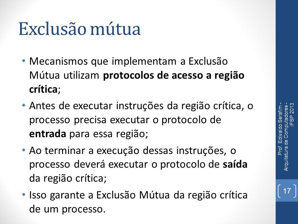 Exclusão mútua Prof.